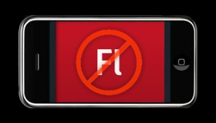No flash website on iPhone