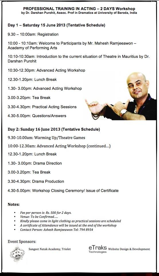 Professional Drama workshop - darshan purohit