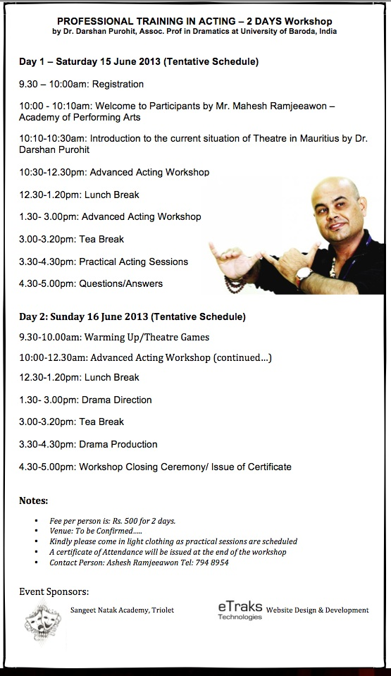Professional Drama workshop - darshan purohit