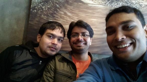 Me, Sourabh and Jitu