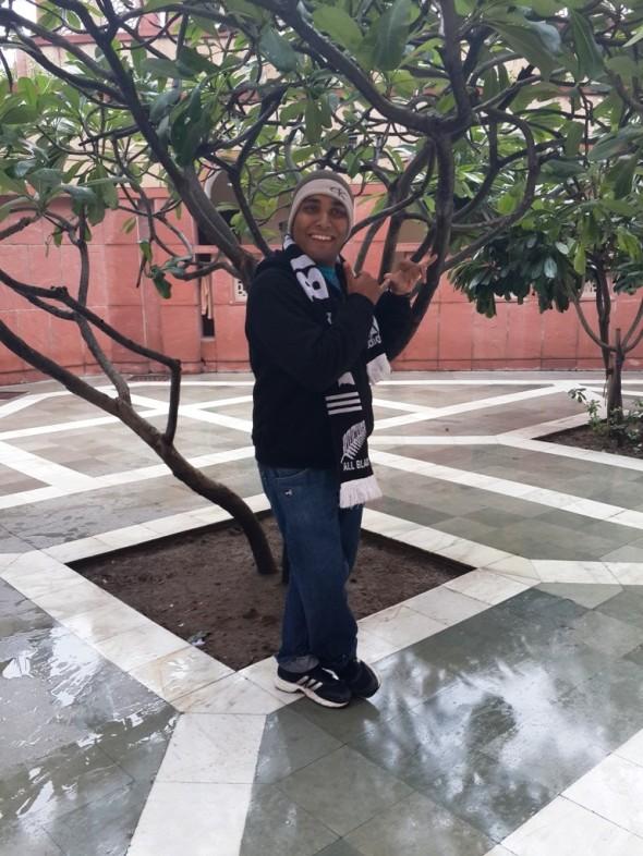 Ashesh at ISKCON Temple