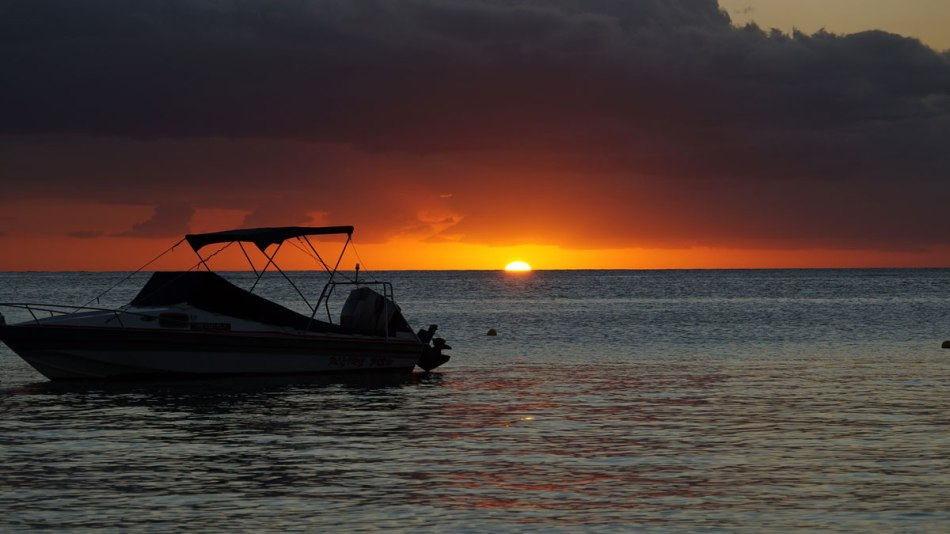 Sunset at Trou aux Biches Beach, Mauritius